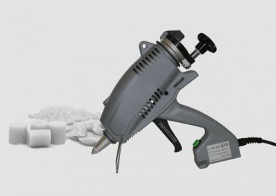 MS 200.2 Klebepistole mit diversen Klebstoffformen