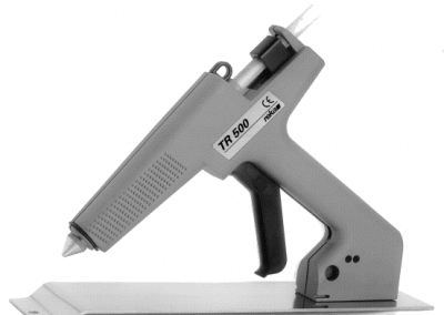 TR 500 glue gun on storing tray