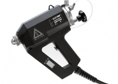 Pneumatic hotmelt adhesive spraying system TR 60 LCD for contactless adhesive application