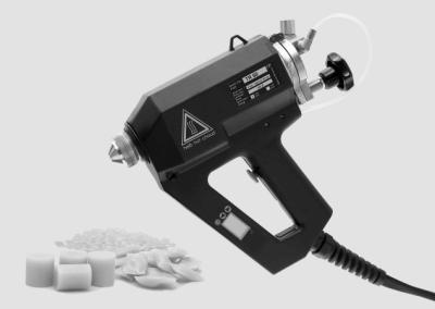 TR 60 LCD Sprühgerät mit diversen Klebstoffformen