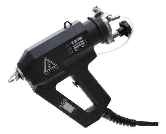 Cartridge glue gun TR 70 LCD for reactive hotmelt adhesives like PUR or POR