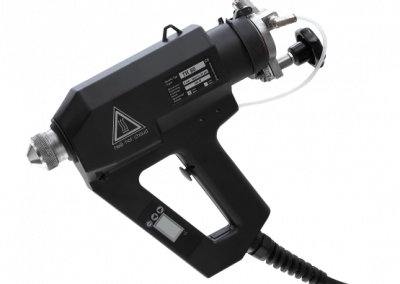 TR 80 LCD glue gun for spraying of reactive hotmelt adhesives