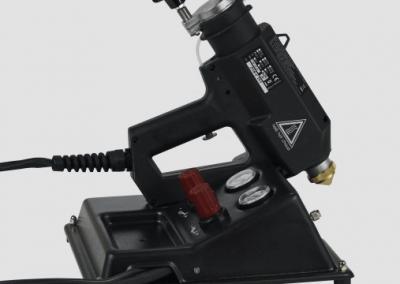 TR 80 LCD Heißsprühsystem mit Ablagestativ