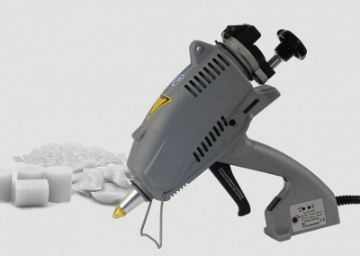 MS 200.E tank glue gun for sensitive adhesives and rough working environments